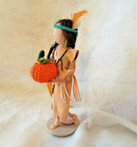needle felted Indian Maiden Waldorf inspired