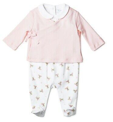 NWT Ralph Lauren Polo Baby Girls Bear 3-Pc. Cotton Set (9 Months)