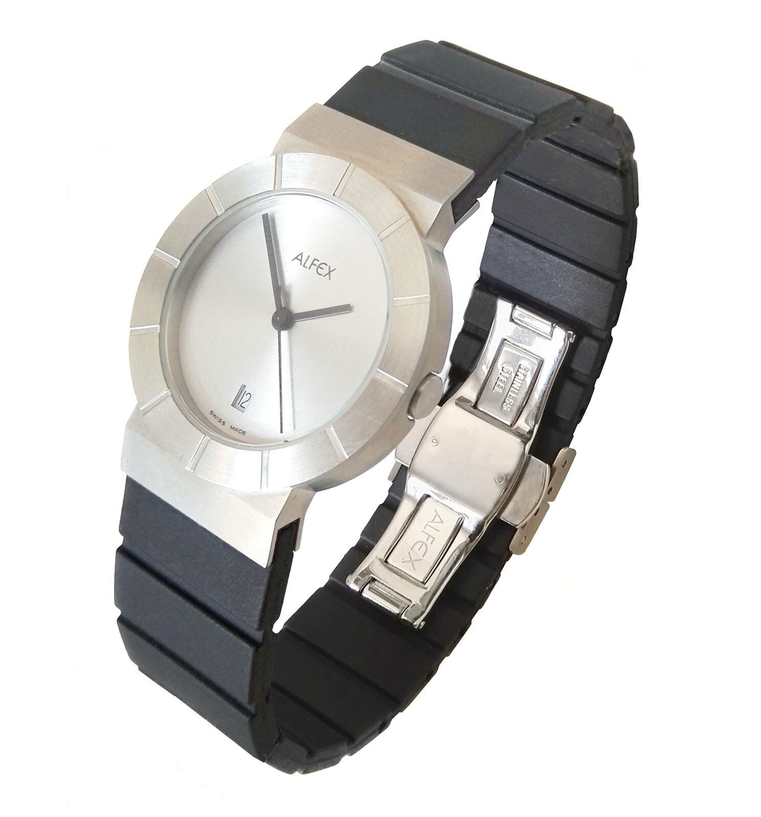 3bd240a0d46 Alfex 5441-01 woman swiss watch  90s - Georg Plum design - aldosuebai.  Woman wristwach with stainless steel ...