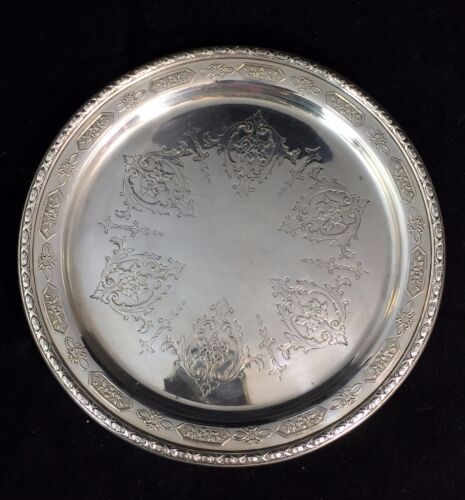 """Antique Towle Solid Sterling Silver 6"""" Bread Dish Louis XIV , 94 Grams #5435"""