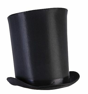 Tall Black Top Hat Victorian Steampunk Magician Mad Hatter Ringmaster Costume](Steampunk Mad Hatter Costume)