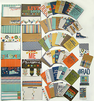 Simple Stories Snap   So Rad  Double Sided Cards    72 Pack    Save 50