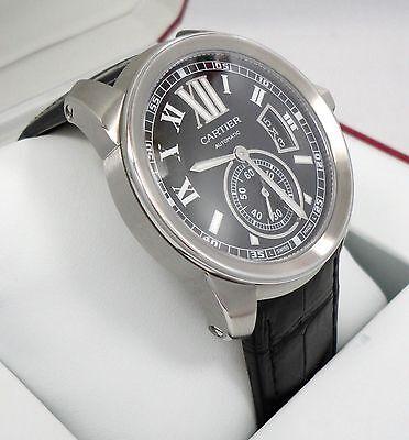 Cartier Calibre De Cartier W710014 Black Dial Stainless Steel 3389 *BRAND NEW*