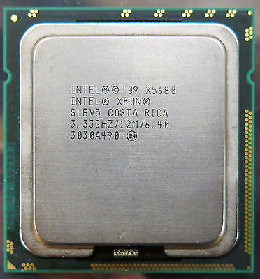 2PCS Intel Xeon X5680 Six Core 12M Cache 3.33 GHz LGA 1366 CPU Processor