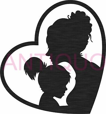 Dxf Svg Files Of Plasma Laser Cut Router - Mother Love Heart - Mother Day Design