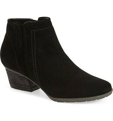 - Womens Blondo Boots Valli Black Suede Waterproof Zip Ankle Booties 7.5 8 8.5 10
