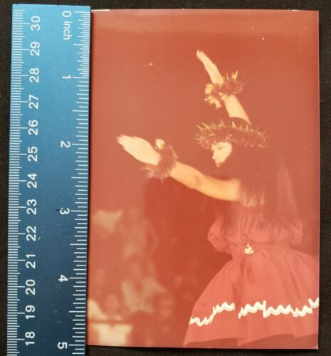 Vintage Hula Girl Photo From Merrie Monarch Festival