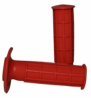 Red Scott Style Thumb Throttle Quad ATV Grips to fit Yamaha Raptor 700