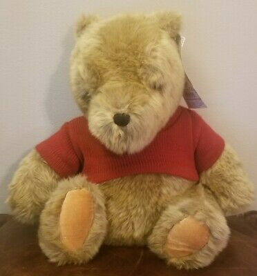 "NWT Gund Disney 11"" Classic Winnie the Pooh Tan Plush Red Sweater toy"