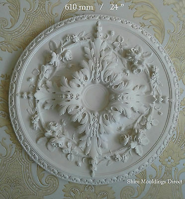 """Plaster Ceiling Rose Large Beautifull  610mm / 24"""" """" Handcrafted CR35"""