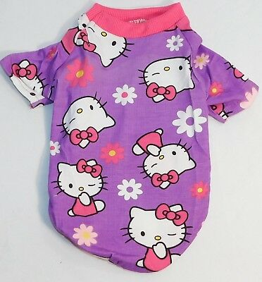 Dog Shirt Small Dog Clothes Purple Kitty Size Small