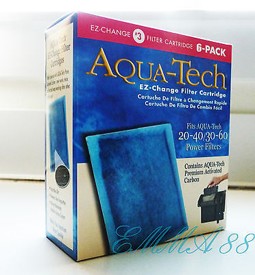 Aquatech 20 40 30 60 Filter Cartridge 6Pk  Fits Aqua Tech 20 40 30 60 Power New