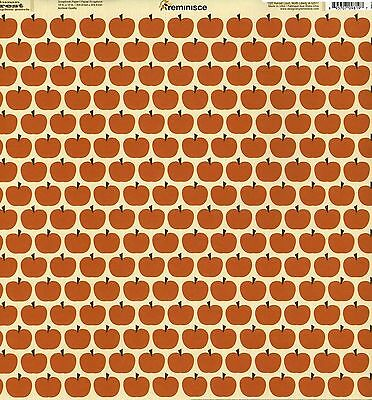 Halloween Scrapbooking Paper (Reminisce - Pumpkin Patch Scrapbooking Paper - DS 09819 Thanksgiving)