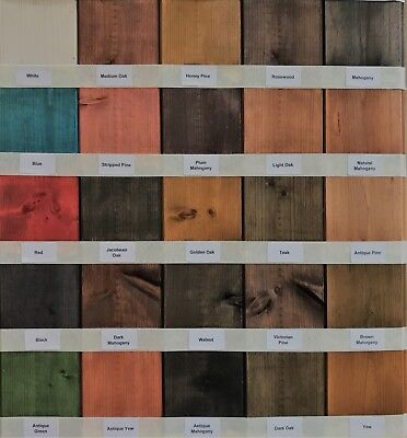 Water Based Wood Stain / Wood Dye - Traditional & vibrant Colour Range ()