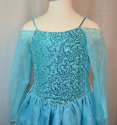 Girl Princess Costume, Gorgeous Blue Dress Size 8, Movie inspired dress up. - Movies Dress Up