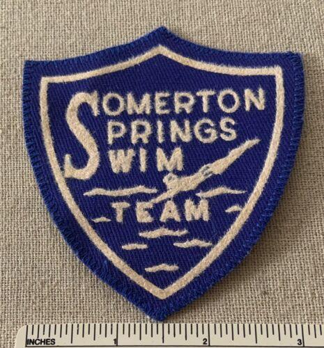Vintage SOMERTON SPRINGS SWIM TEAM Award Badge PATCH Swimming Youth PA