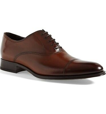 To Boot New York Men's Brandon Cap Toe Oxford Size 8 Cognac Leather MSRP $395