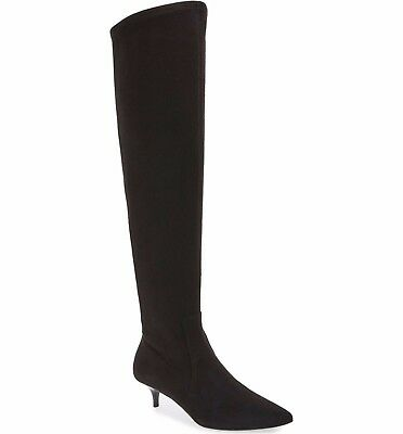 Womens Michael Kors Flex OTK Zip Over The Knee Soft Stretch Black Boots 5 $260