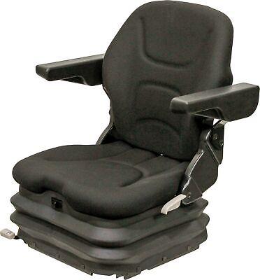 Km 1006 Uni Pro Seat Air Suspension -black Fabric - Forklift Skid Steer Etc