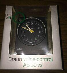 Vintage Braun Voice Control Travel Alarm Clock 4763/AB 30 vs