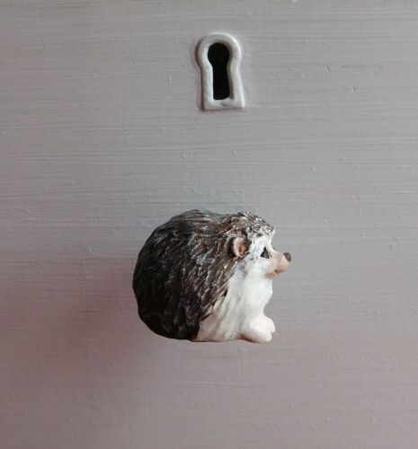 Hedgehog Pair Cabinet Drawer Pull Handles Knobs Hardware Hand Made by Raquel WRC