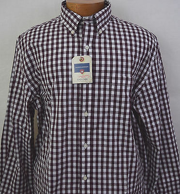 Big and Tall Shirt, XLT, NWT, Saddlebred, LS, Mens, Sport Shirt, Wine Plaid New  for sale  Shipping to Canada