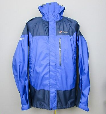 Berghaus Gore-tex PACLITE Jacket L Blue Lightweight Waterproof Coat Hiking Mens for sale  Shipping to Ireland