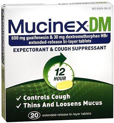 Mucinex Dm Strength 12 Hour Expectorant   Cough Suppressant Tablets 42 Ea