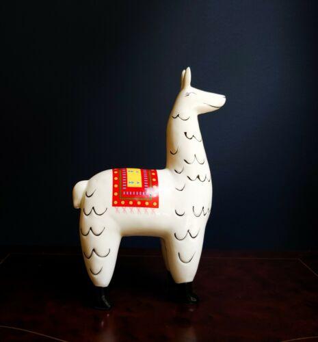 NEW! Ceramic Llama figurine Porcelain Statue Alpaca Cute Pottery Gift Home Decor