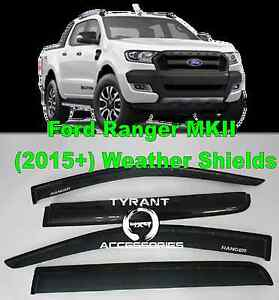 Ford Ranger MK2 PX2 2016+ Weather Shields XLT XLS Wildtrak Kings Park Blacktown Area Preview
