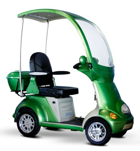 Green Mobility Scooter Buggie, Canopy & Windshield, 500 Lb Cap, 4 Wheels, Ew-54