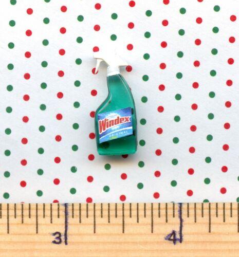 Dollhouse Miniature Size Window Cleaner Spray Bottle # W