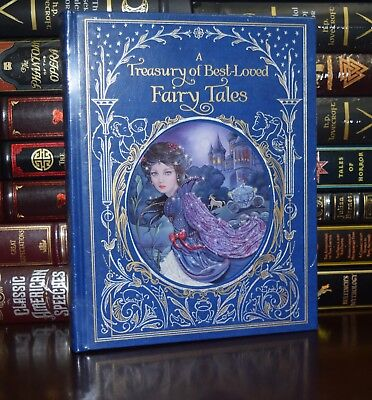 Treasury of Best Loved Fairy Tales Illustrated New Sealed Deluxe Leather