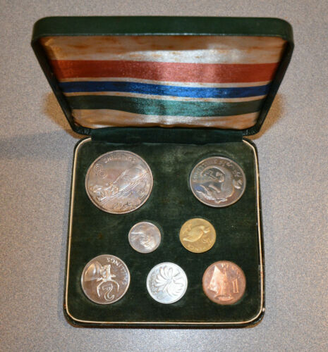 GAMBIA ORIGINAL 7 COIN PROOF SET 1966/1970 ONLY 1,500 ISSUED FREE SHIPPING!