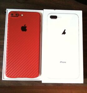Custom Red/Black Carbon iPhone 7 Plus 128GB Unlocked -TRADE/SELL