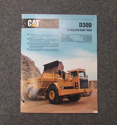 Cat Caterpillar D30d Articulated Dump Truck Dealers Brochure Manual 1989