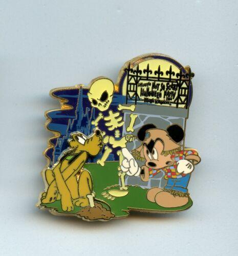 Disney Mickey Mouse Not So Scary Halloween Party Pluto Takes Skeleton Bone Pin