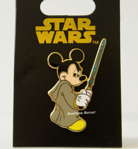 Disney  Star Wars Mickey Mouse Pin as Jedi Luke Skywalker with Lightsaber New