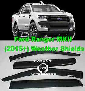 Ford Ranger MK2 PX2 2015+ Weathershields Weather shields Visors Kings Park Blacktown Area Preview