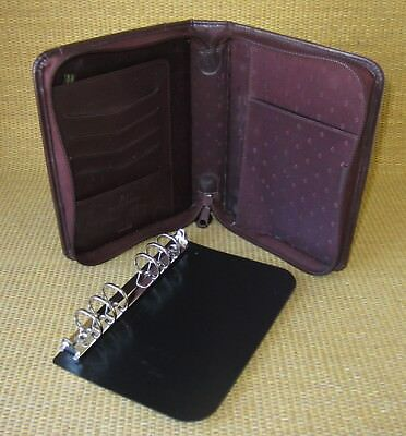 Compact 1 Rings Burgundy Durable Sim. Leather Franklin Covey Plannerbinder