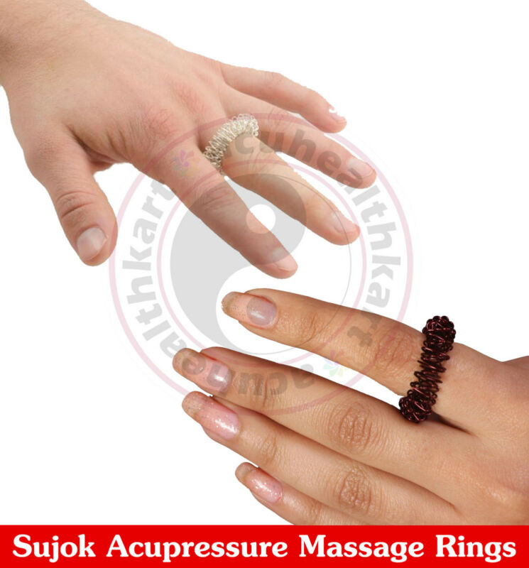Atlas Of Sujok Acupuncture Hand Book By Acs Free 5 Sujok Rings Health & Beauty Acupuncture