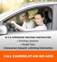 Driving Instructor, Driving Lesson in GTA 416-821-4933
