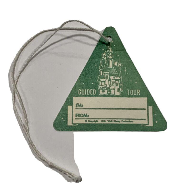 vintage disney disneyland 1958 guided tour badge Hang Tag VIP