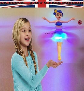 Flower Flutterbye Light & Music Flying Magic Fairy Doll Magically Flies Toy Gift