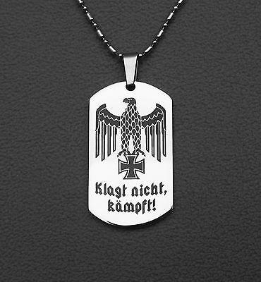 Anhänger-Edelstahl,Reichsadler,Eisernes Kreuz,Wehrmacht,Klagt nicht kämpft,WK2
