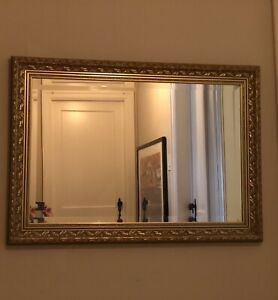 Gold embossed mirror