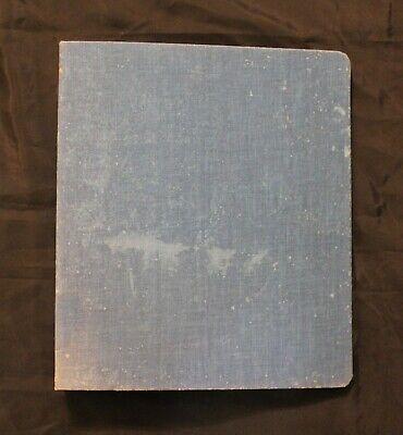 Vintage Blue Mead Canvas Cloth 3-ring Binder