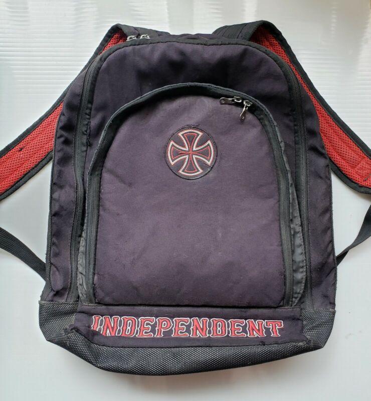 Independent Black Backpack Skate Skateboarding Bag Vintage 80s