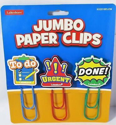 BIG Jumbo Paper Clips Bookmark Learning Home School Supplies Teacher Schooling