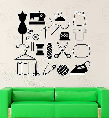 Wall Decal Sewing Tailor Atelier Art Decor Vinyl Stickers - Atelier Wall